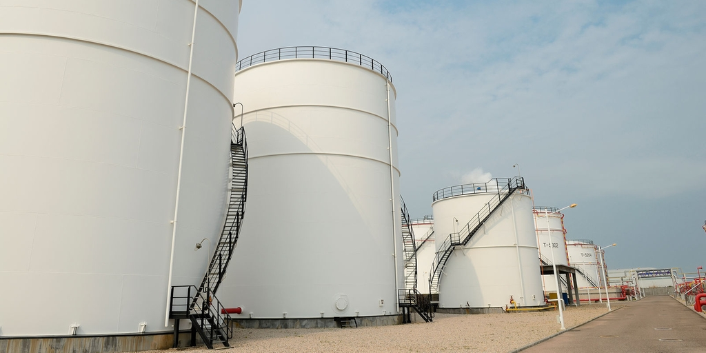 Storage tanks containing dangerous chemicals