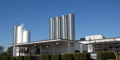 Milk receiving dairy plant